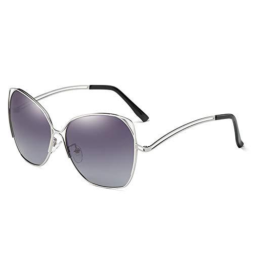 NgMik Gafas De Sol Polarizadas Marco De Las Señoras De Las Gafas De Sol Polarizadas Gran Espejo De Conducción De Colores Antideslumbrante De Compras Clásico (Color : Purple, Size : One Size)