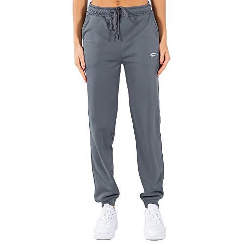 SMILODOX Damen Jogginghose Glam - Lange Hose im Loose fit mit high Waist Bund und Tunnelzug, Größe:M, Color:Anthrazit