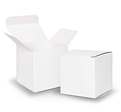 Sweelov Geschenkbox Geschenkschachtel weiß Kisten 7x7x7cm Kisten Für DIY Basteln Weihnachts Hochzeit pappschachteln Brautparty verpackung