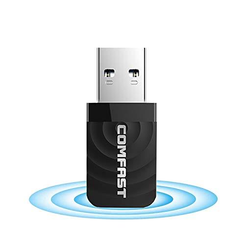 VHS WLAN Stick WLAN Adapter USB 30 1300Mbits Dualband 24GHz400Mbps 5GHz867Mbps WiFi Adapter fur PCDesktopLaptop unterstutzt Windows 788110XP MAC 109 1014
