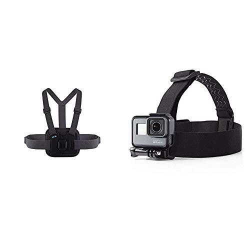 Chesty V2 - Performance Brustgurthalterung (GoPro offizielles Zubehör) & Amazon Basics Kopfgurt für GoPro Actionkamera
