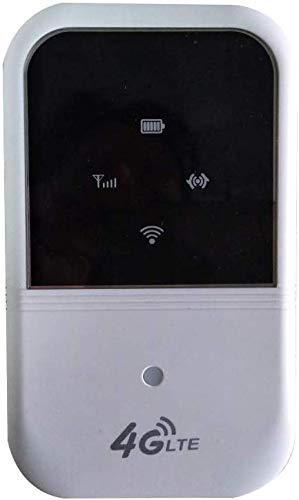 4G LTE Móvil WiFi con SIM Tarjeta Ranura, 150Mbps Punto de Acceso Inalámbrico a Router Soportes 10 Usuarios Portátil Módem para Coche Casa Viaje Acampada TD-LTE, Fdd-LTE, Wcdma,TD-Scdma, Gsmi