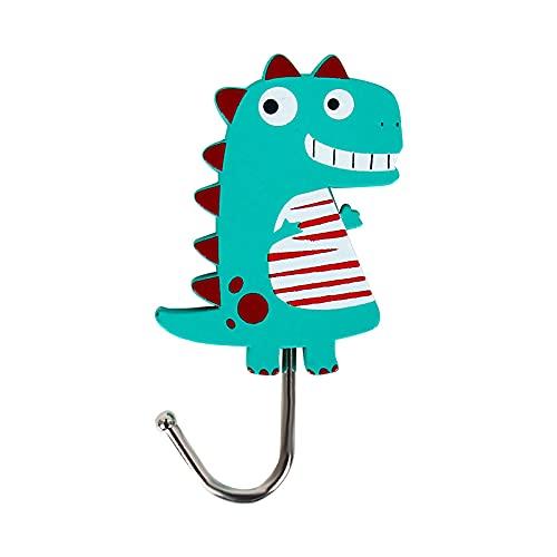 JZLMF Ganchos adhesivos fuertes con diseño de flamenco, cereza, dinosaurios, ganchos, ganchos, ganchos, ganchos, para niñas y corazones
