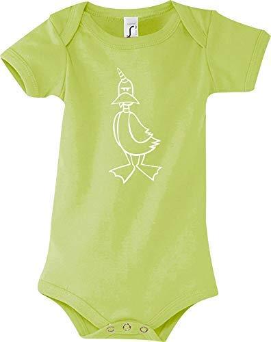 Shirtstown Body Bébé Drôle Animal Einhornente,Licorne,Canard - Vert, 18-24 Monate
