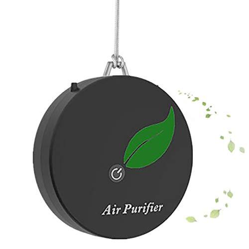 Basage Perssnliche Tragbare Luft Reiniger Halskette Tragbare Lufter Frischer Ionisator Negativ Ionen Generator für Erwachsensder Schwarz
