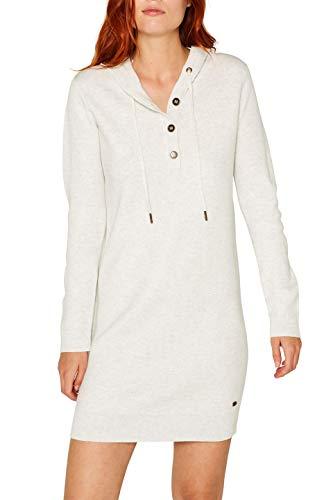 edc by ESPRIT Damen 089Cc1E014 Kleid, Grau (Pastel Grey 5 054), X-Small (Herstellergröße: XS)