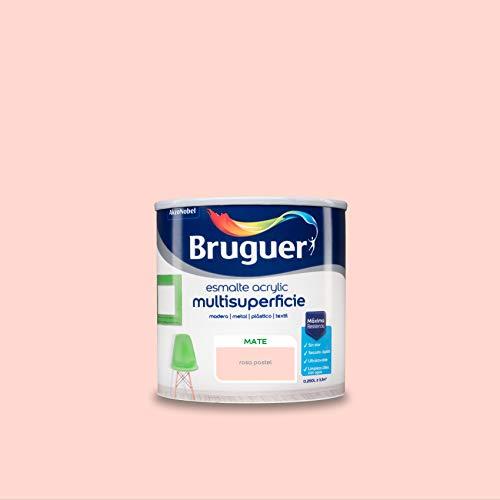 Bruguer Acrylic Multisuperficie Esmalte al agua Mate Rosa Pastel 250 ml