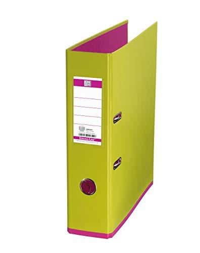 Oxford Ordner A4, MyColour, 8 cm breit, zweifarbig in hellgrün und pink, 1 Stück