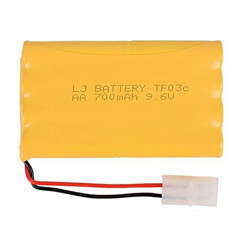 MeGgyc 9.6v 700mah AA H batería Juguetes eléctricos RC Coche Barco Robot Recargable White