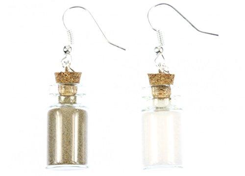 Miniblings sale pepe in orecchini vaso vetro stoccaggio appendiabiti spezie Camping - Gioielli fatto a mano placcati I Orecchini