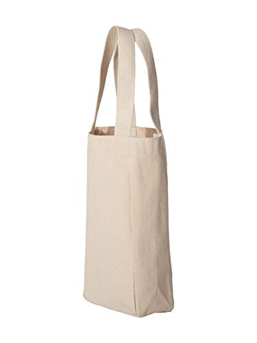 Liberty Bags Double Bottle Wine Tote (Natural) (One)