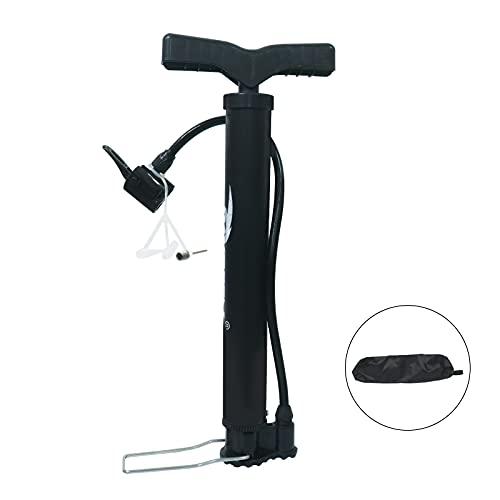 LSEEKA Mini Bomba para Bicicleta, 120 PSI Bombas de Aire para Bicicletas con Manguera Flexible y adaptadores con Bolsa de Almacenamiento