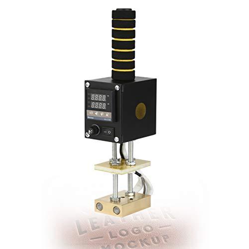 ハンドヘルドエンボス加工機、銅製加熱プレート付きホットフォイルプレス機、レザーペーパークラフト用デジタルディスプレイサーモスタットエンボス印刷110V / 220V