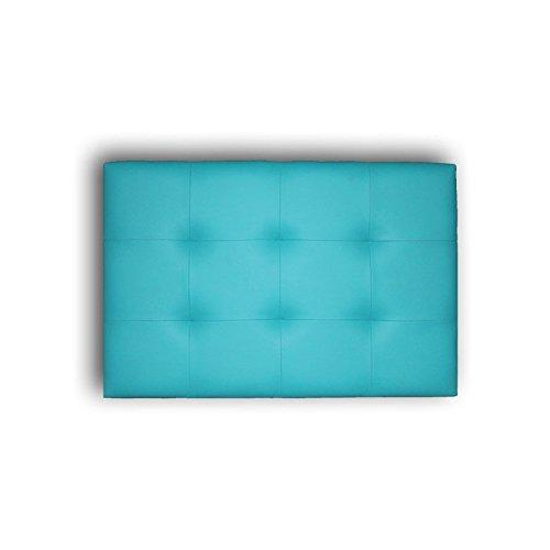 Ventadecolchones - Cabecero de Cama Tapizado Acolchado de Dormitorio en Polipiel con capitoné Modelo Tablet en Color Turquesa y Medidas 180 x 70 cm para Camas de 160 ó 180