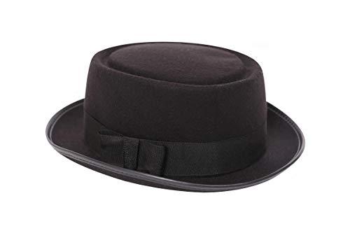 I LOVE FANCY DRESS LTD Sombrero DE Copa Baja Heisenberg para Adultos. CLÁSICO Sombrero DE Copa Baja Negro. Mods Y PELÍCULAS Sombrero DE Copa Baja para Hombres Y Mujeres. Talla: 58CM