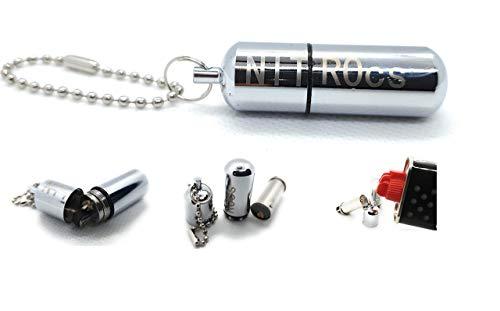 NITROcs Dauer Feuerzeug Benzin - Glänzend mit Schraubgewinde Outdoor Tactical Firestarter