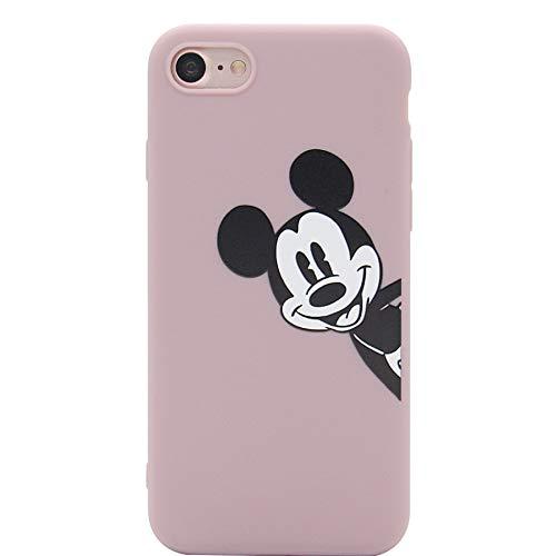 MC Fashion iPhone 7 Funda, Cute Cartoon Printed Mickey Mouse Case para Adolescentes niñas niños Mujeres, Ultra Slim Suave Espesado TPU Funda para Apple iPhone 7 y iPhone 8 (4.7 Pulgadas)