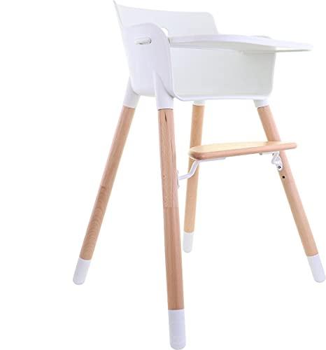 KiddyMe Mitwachsender Hochstuhl 2 in 1 - Baby Essen Stuhl, Kinderstuhl, Babystuhl, Babyhochstuhl ab 6 monate - Essstuhl und Sitzstuhl Baby und Kinder - Mit Tischplatte - Design