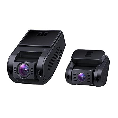 Dash Cam Auto, Doppia Telecamera per Auto in 1080P HD Schermo, Obiettivo Grandangolare a 6 corsie 170°, Visione Notturna, G-Sensore, Caricatore per Auto a Doppia Porta