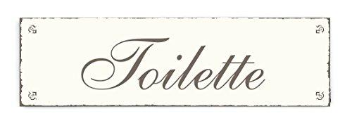 SCHILD Dekoschild TOILETTE Shabby Vintage Holzschild Türschild Kloschild Toilettenschild