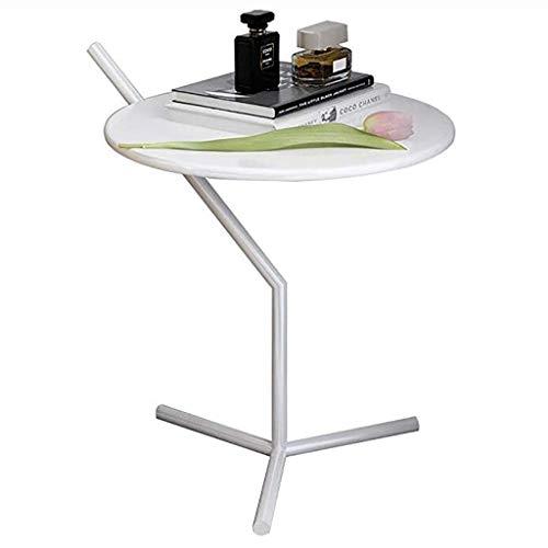 Nordic canapé côté Petite Table Ronde lit Petite Table Mobile armoires de Coin Table Basse Occasionnelle Table d'appoint (Couleur : Blanc)
