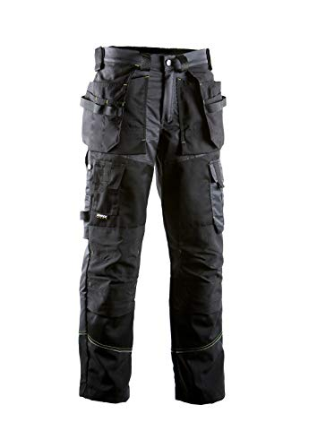 Dimex 676 HT-Hose Arbeitshose atmungsaktiv, Professional Workwear Herren, lang, Schwarz/Grau 54