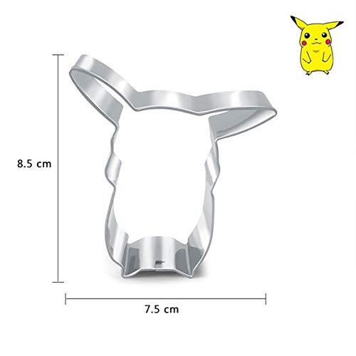 Cokytoop Kawaii Pikachu Edelstahl Ausstechformen Cartoon Pokemon Party Kekse Backformen Küchenwerkzeug, C.