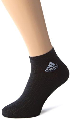 adidas Socken Ankle Rib Training 3 Pair Pack, Black/White, 35-38, Z25978