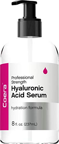 Hyaluronic Acid Serum for Face & Skin | 8 oz | Paraben & SLS Free Moisturizer | By Coera