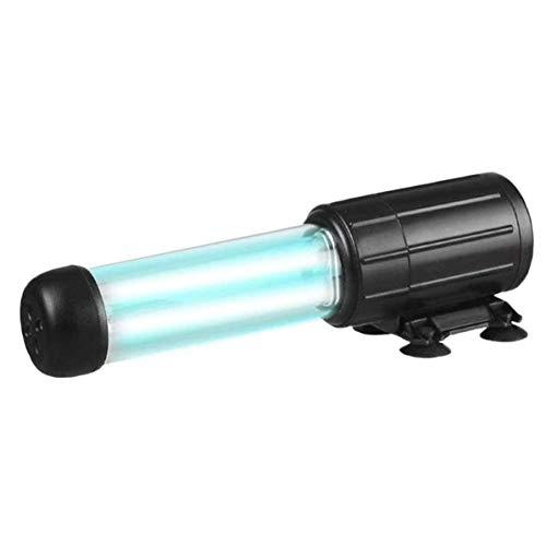 GZD Lámpara de desinfección de Doble Tubo, lámpara de desinfección de Acuario UV, purificación de la eliminación de Cloro de Algas de Calidad del Agua,9W
