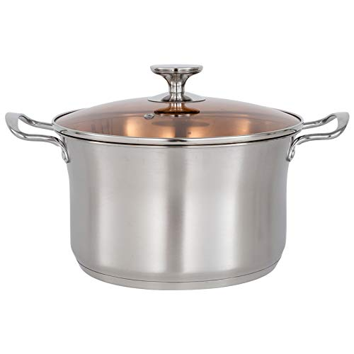 Stock Pot with Lids Stainless Steel Stock Pot Cooking Pot Professional...
