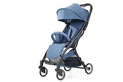 HZPXSB Cochecito de bebé vagón portátil Plegable bebé Coche Ligero PRAM PRAM BEBÉ Carruaje Travel Baby Cocheck (Color : Dark Blue)