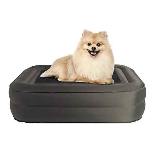 EXPAWLORER Erhöhtes Hundebett für den Außenbereich, doppelte Dicke, verstellbar, aufblasbares Haustierbett, ideal für Wald Camping & Bergwandern, für kleine, mittelgroße Haustiere