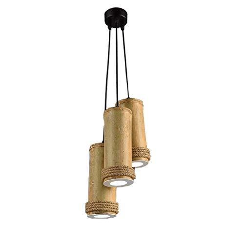 Fuente De Luz LED 3 15W Lámpara Colgante Creativa Vintage Lámpara Colgante Clásica Cuerdas De Cáñamo Cuerpo Altura Ajustable 3000K Luz Cálida Yang1mn