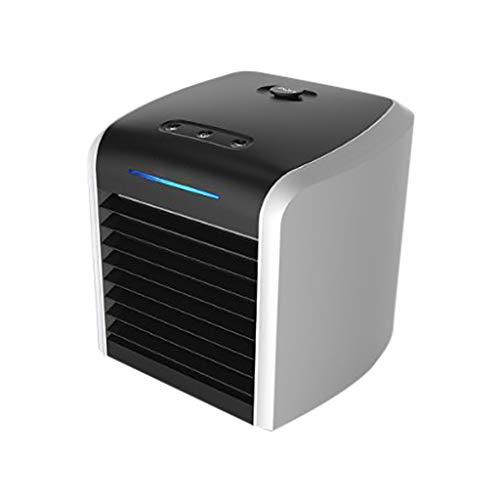 riou Mini Aire Acondicionado Portátil, Mini Enfriador Portátil USB Aire Acondicionado 3 en 1 Ventilador Purificador Humidificador para Hogar Oficina, 7 LED de Colores, 3 Velocidades Ajustable