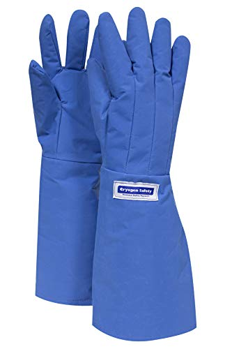 National Safety Apparel G99CRBERXLEL Elbow Cryogenic Safety Water Resistant Glove, 17, X-Large, Medium Blue