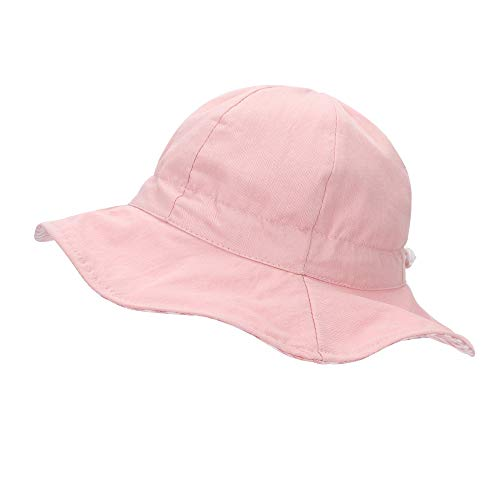 MK MATT KEELY Sombrero Bebe Verano Al Aire Libre Sombrero de Sol Reversible Gorra de Playa Plegable para Niños con Correa Ajustable, Edad 1-3