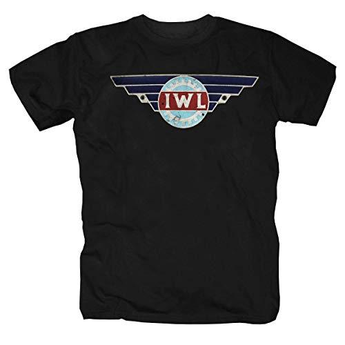 IWL Motorroller Motorrad Moped Simson S51 Schwalbe Roller Awo MZ ETZ T-Shirt Shirt S