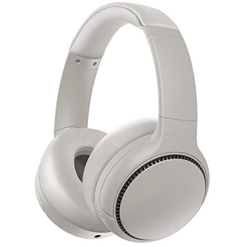 Panasonic RB-M500BE-C Cuffie Bluetooth, Senza Fili, Ricarica Rapida, Funzione XBS DEEP per Bassi Potenti e Nitidi, Fino a 30 ore di Riproduzione, Funzione Bass Reactor, Microfono Integrato, Crema