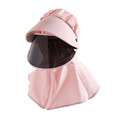 WZJAM Sombrero para El Sol Protección UV Visor De Ciclismo Gorra Protectora Antivaho Sombrero para El Sol Productos para Exteriores-Rosa Claro_Modelos para Adultos