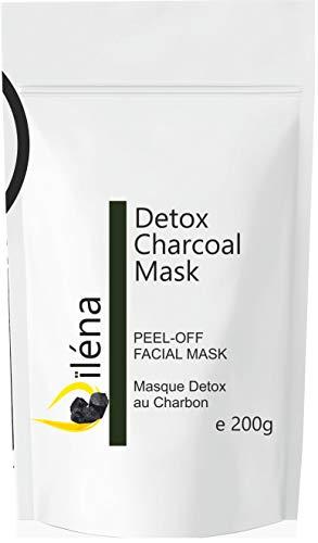 Masque Peel-Off Masque d'Alginate gelifiant en poudre 200 g professionnel et à la maison Masque Visage extracteur points noirs (Masque au charbon Detox)