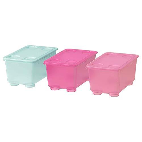 Youngland GLIS Box mit Deckel, rosa/türkis17x10 cm