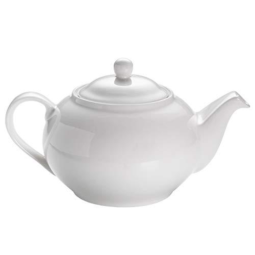 Maxwell & Williams P998 White Basics Teekanne aus Porzellan, Weiß, für 6 Tassen, in Geschenkbox
