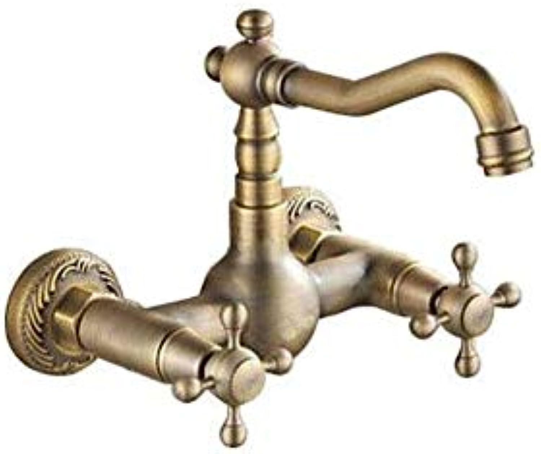Küche Bad Wasserhahnküchenarmatur - Zwei Lcher Antique Brass Bar Prep Wandmontage