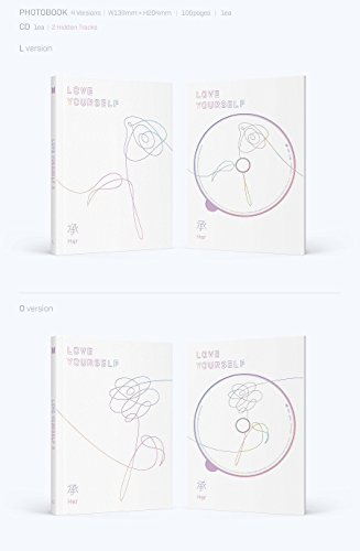 BTS - Love Yourself 承 [Her] [O ver.]  with Photobook, Photocard, Official Folded Poster(O ver.), Extra photocard