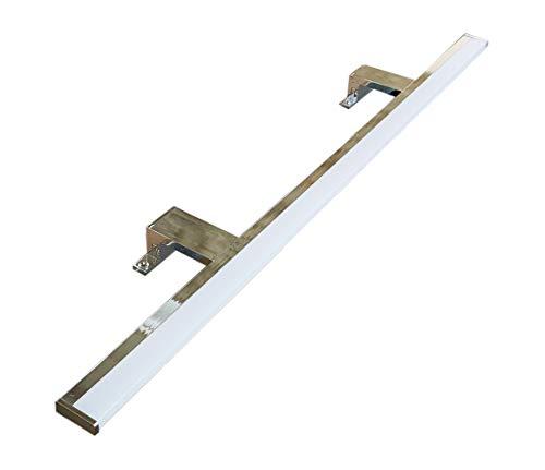 Lampada da Specchio LED per Bagno PHOENIX – 100CM, 10W, 1000LM, 220V, 4000K, ALLUMINIO CROMATO, IP44 Classe II, non dimmerabile, Installazione specchio e telaio, luce naturale, 1000 mm