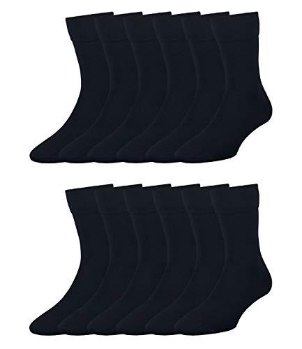 ELBEO Herren Business-Socken Freizeitsocken Bamboo 905901 12 Paar, Farbe:Blau, Größe:39-42, Artikel:-9756 nachtblau, Menge:12 Paar (12x 1er Pack)