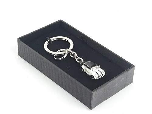 Mini Cooper 3D Metal Logo Car Key Chain Ring Marked Model Keychain Madeforcar Blue