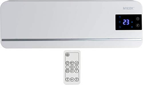 MYLEK Electric 2kW Over Door Fan Heater Air Curtain / Cooling Fan with LED Display, Timer & Remote Control - This Overdoor is Ideal For Home, Office & Commercial Premises