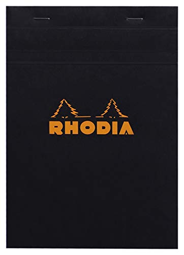 Rhodia Classic French Paper Pads Graph 6 in. x 8 1/4 in. Black